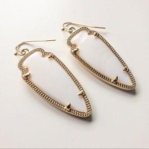 Kendra Scott White Mother of Pearl Earrings